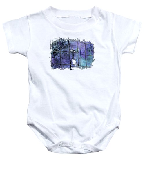 Our Father Berry Blues 3 Dimensional Baby Onesie