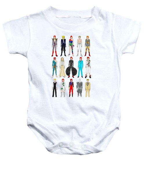 Outfits Of Bowie Baby Onesie by Notsniw Art