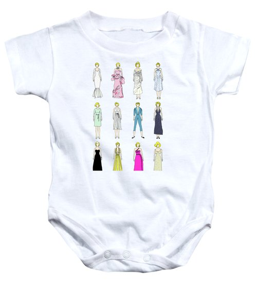 Outfits Of Marilyn Fashion Baby Onesie by Notsniw Art