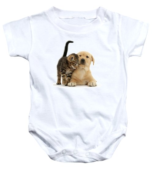 Over Friendly Kitten Baby Onesie