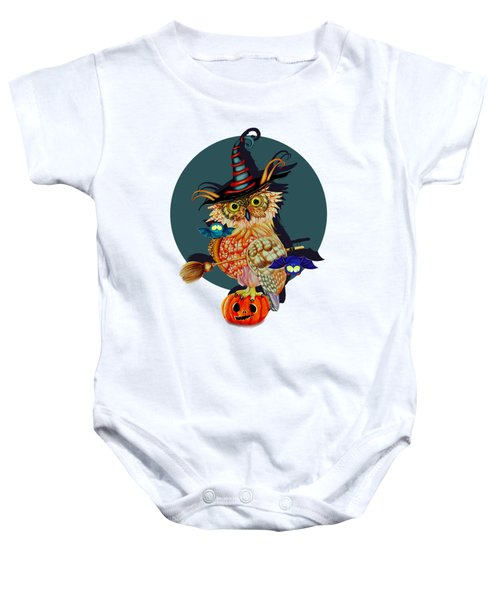 Owl Scary Baby Onesie by Isabel Salvador