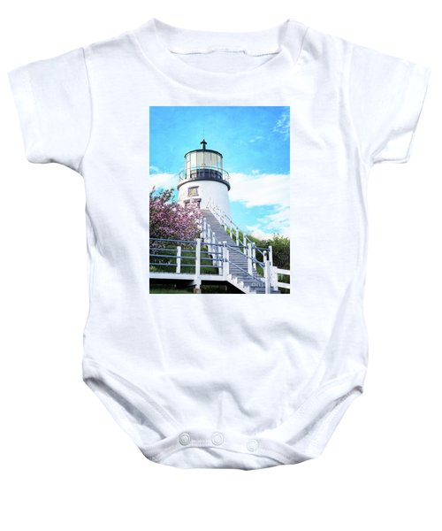 Owl's Head Light In Early June Baby Onesie