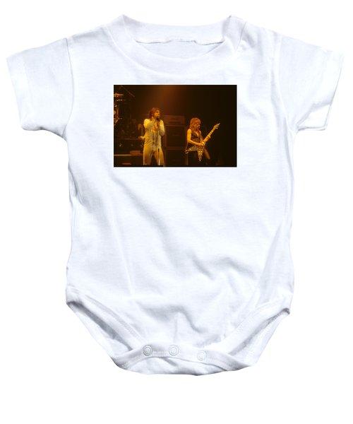 Ozzy Ozbourne And Randy Rhoads Baby Onesie