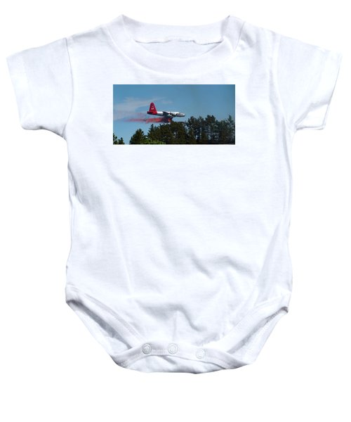 P2v Red Canyon Fire Baby Onesie