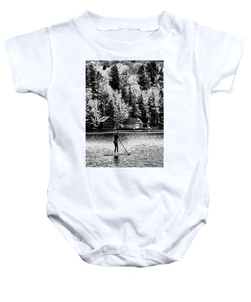 Paddleboarding On Old Forge Pond Baby Onesie