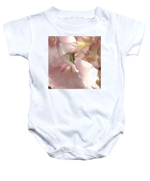 Pale Pink Glads Baby Onesie