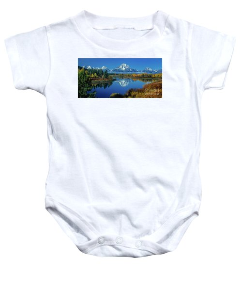 Panorama Oxbow Bend Grand Tetons National Park Wyoming Baby Onesie