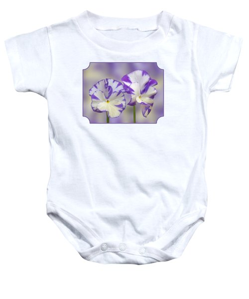Pansy Faces Baby Onesie
