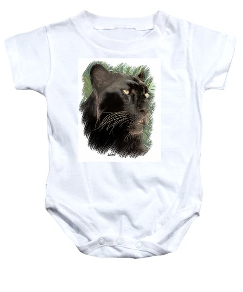 Panther 8 Baby Onesie