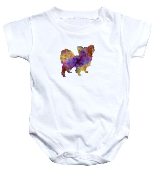 Papillon In Watercolor Baby Onesie by Pablo Romero