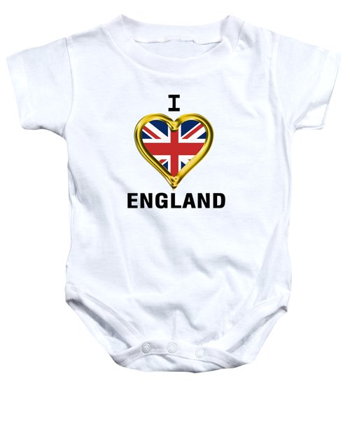 Parchment Background I Heart England Baby Onesie