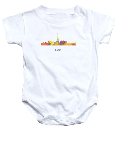 Paris France Skyline Baby Onesie