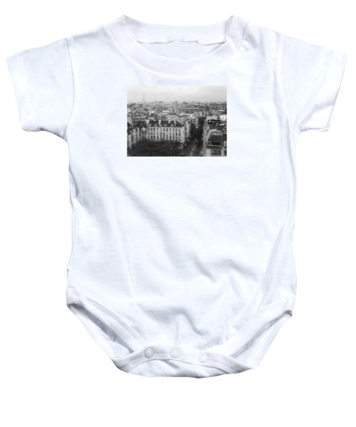Paris In The Rain  Baby Onesie