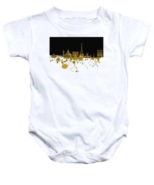 Paris Skyline  Baby Onesie