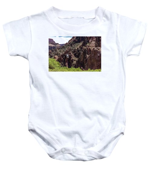 Park Service Helicopter In The Grand Canyon  Baby Onesie