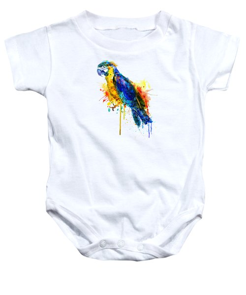 Parrot Watercolor  Baby Onesie by Marian Voicu