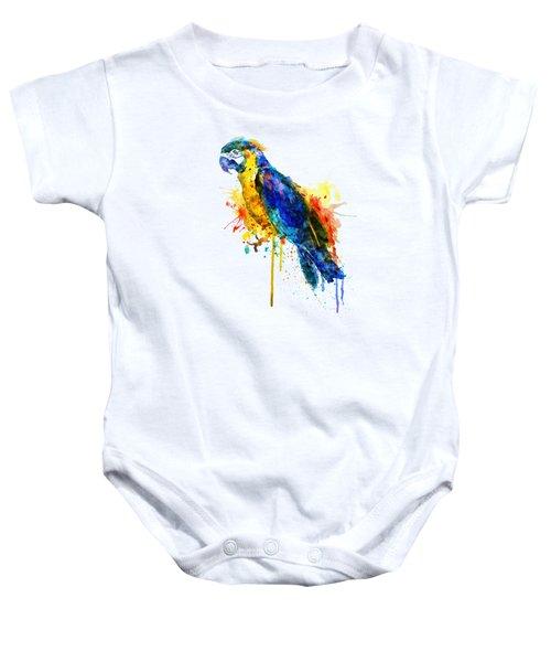 Parrot Watercolor  Baby Onesie