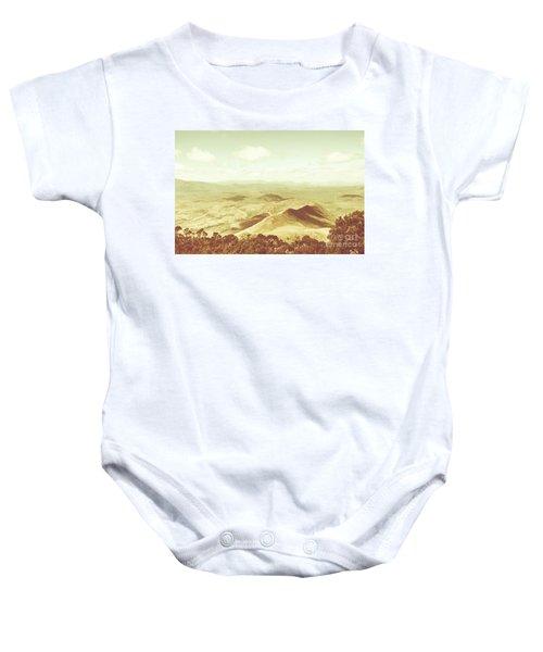 Pastel Tone Mountains Baby Onesie