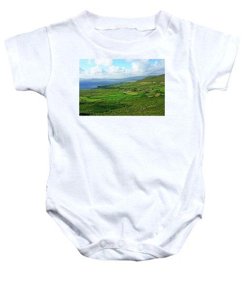 Patchwork Landscape Baby Onesie