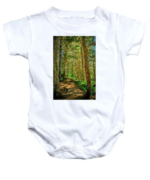 Path In The Trees Baby Onesie