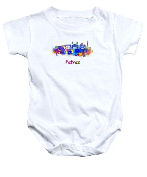 Patras Skyline In Watercolor Baby Onesie