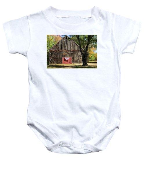 Patriotic Barn Baby Onesie