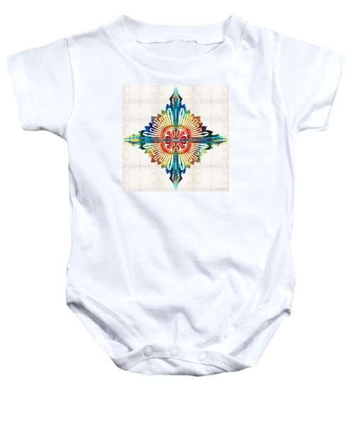 Pattern Art - Color Fusion Design 1 By Sharon Cummings Baby Onesie