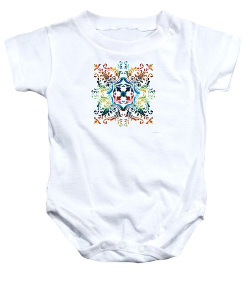 Pattern Art - Color Fusion Design 7 By Sharon Cummings Baby Onesie