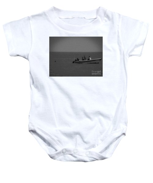 Pelican And The Fishing Boat Baby Onesie
