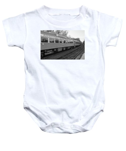 Pennsylvania Reading Seashore Lines Train Baby Onesie