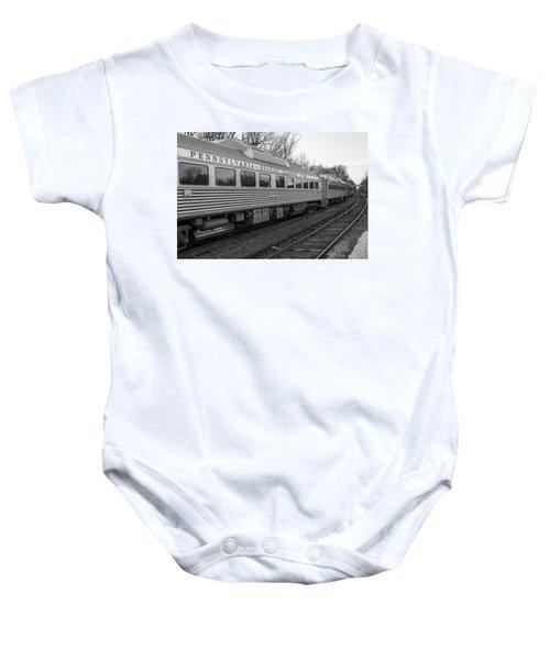Pennsylvania Reading Seashore Lines Train Baby Onesie