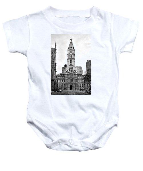Philadelphia City Hall Building On Broad Street Baby Onesie