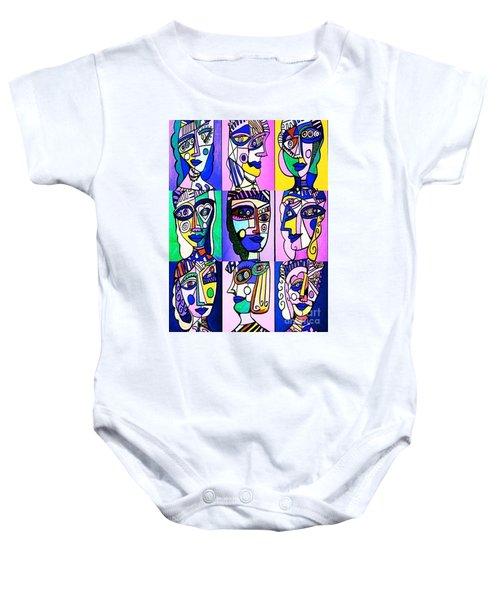 Picasso Blue Women Baby Onesie