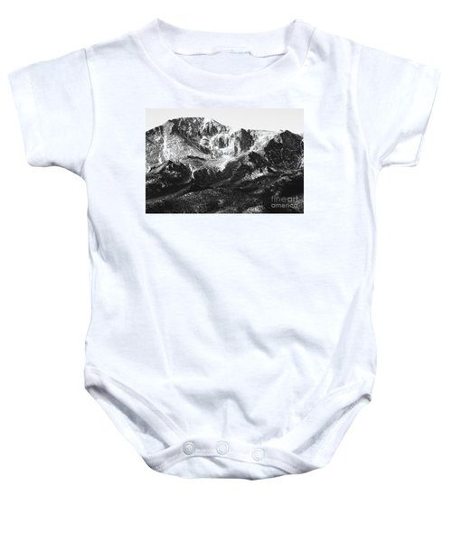 Pikes Peak Black And White In Wintertime Baby Onesie