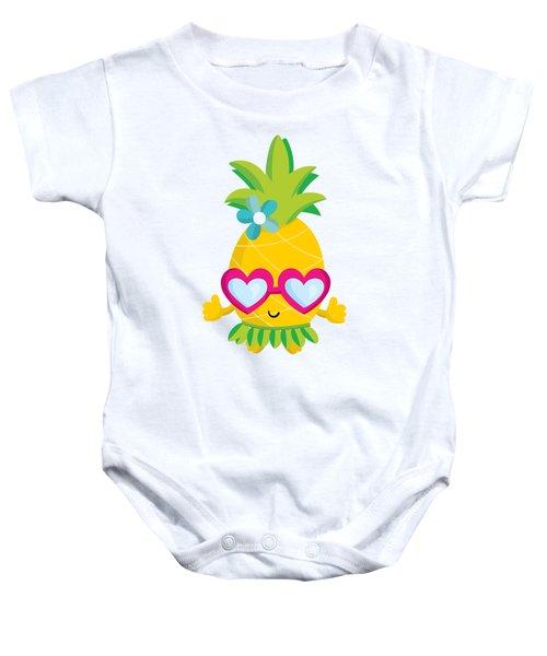 Pineapple Hula Baby Onesie