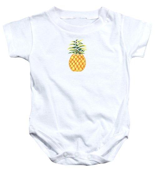 Pineapple Baby Onesie by Kathleen Sartoris