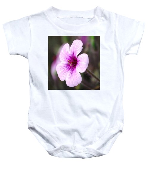 Pink Flower Baby Onesie