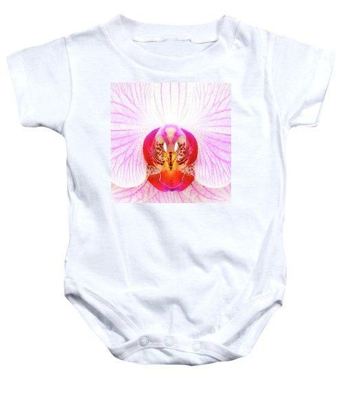 Pink Orchid Baby Onesie