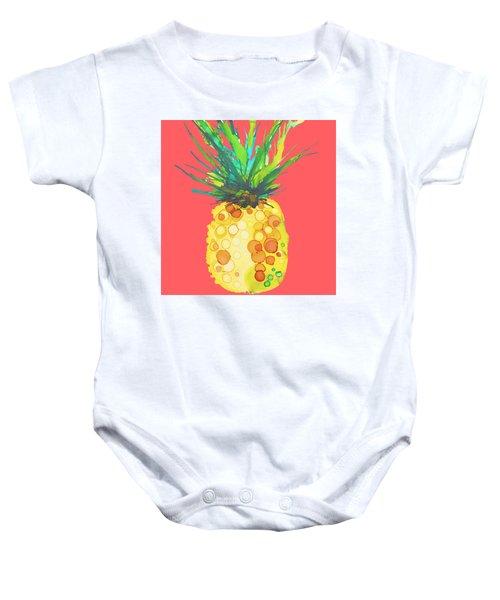 Pink Pineapple Daquari Baby Onesie