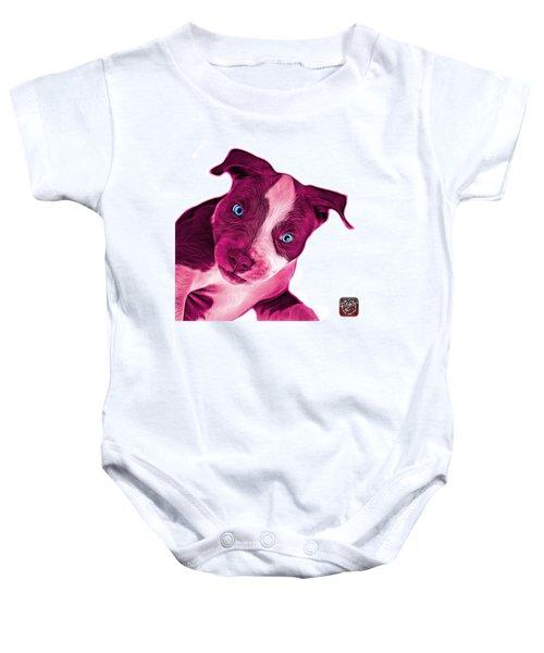 Pink Pitbull Dog Art 7435 - Wb Baby Onesie