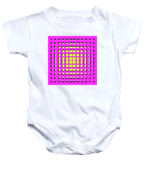 Pink Polynomial Baby Onesie