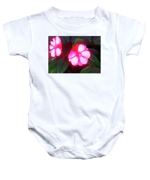 Pink Red Glow Baby Onesie