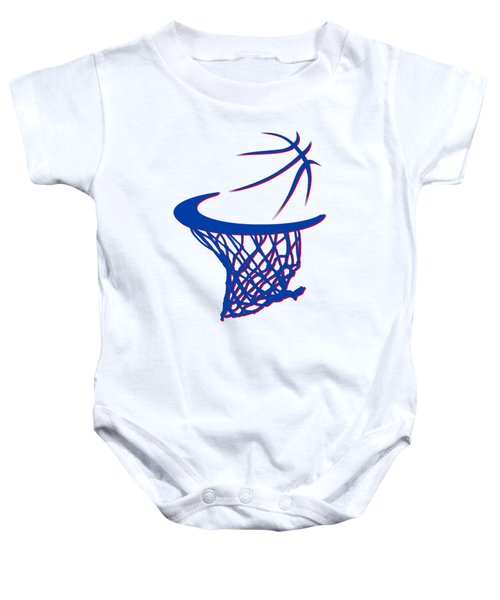 Pistons Basketball Hoop Baby Onesie