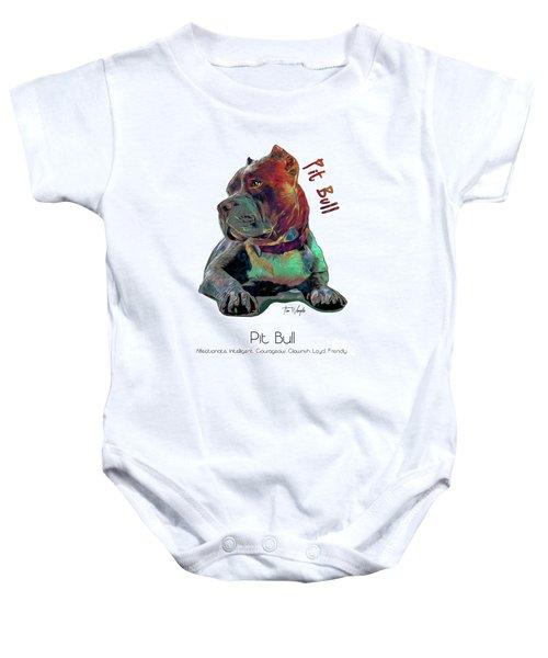 Pit Bull Pop Art Baby Onesie