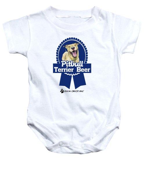 Pit Bull Terrier Beer Baby Onesie