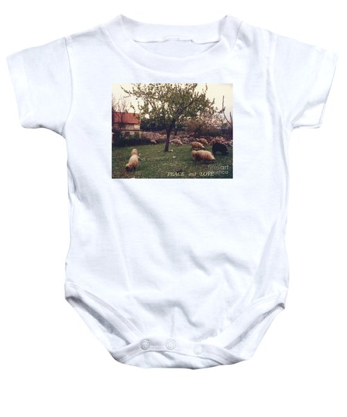 Place Of Peace And Love Baby Onesie