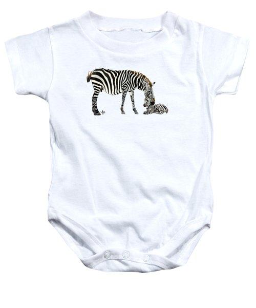 Plains Zebras Baby Onesie