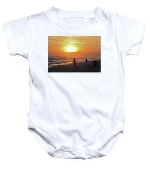 Play On The Beach Baby Onesie