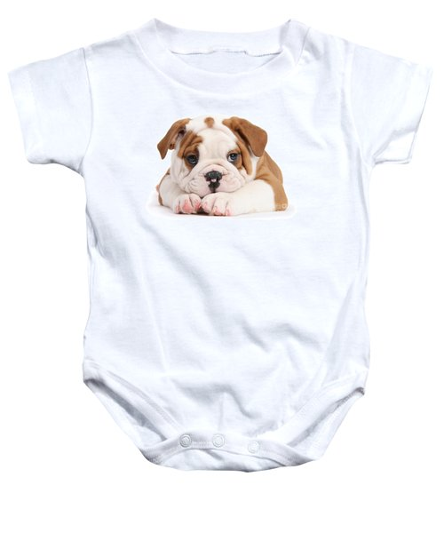 Po-faced Bulldog Baby Onesie