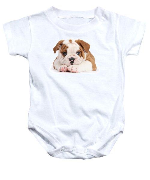 Po-faced Bulldog Baby Onesie